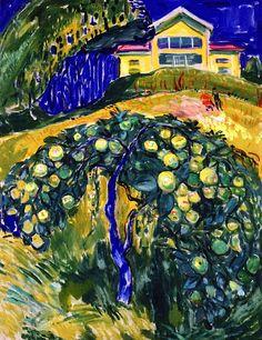 Apple Tree in the Garden Edvard Munch - 1932-1934