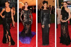Scarlet Carpet | My Met Ball Gala 2012 favourites. Gisele, Beyonce, Rooney all in Givenchy, Rihanna in Tom Ford.