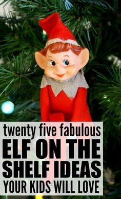 Looking for easy and funny Elf on the Shelf ideas for kids to get your little ones in the Christmas spirit without driving you insane? We've got you covered. With over 25 brilliant ideas to choose from - both for boys and for girls - these creative yet si Christmas Elf, Diy Christmas Gifts, Christmas Projects, Family Christmas, Christmas Ideas, Christmas Stuff, Christmas Stockings, Christmas Ornaments, The Elf