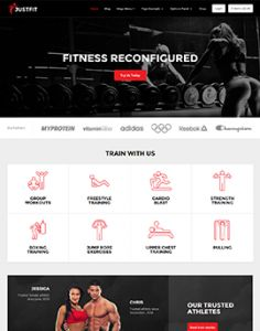 JustFit is the ultimate fitness and exercise WordPress theme. Whether you run a fitness community, are a personal trainer, publish as an online magazine, or own a local gym, JustFit has the feature… Personal Trainer Website, Gym Trainer, Local Gym, Social Media Buttons, Blog Layout, Wordpress Template, Strength Workout, Premium Wordpress Themes, Website Template