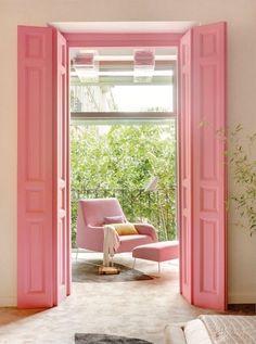 Parisian pink doors