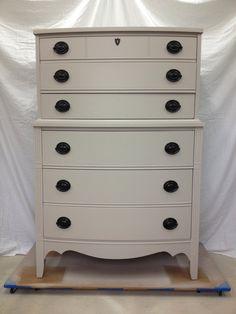 6 Drawer Gray Dresser McCormick Paint McCormick Paint: SW7023 MC0503.