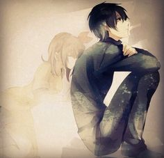Sad anime couple | Anime art