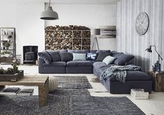 Gorgeous, soft, corner setting. Create your own lounge configuration at FURNISH http://furnish.co.nz/collections/fabric-sofas-modular-corner-setting