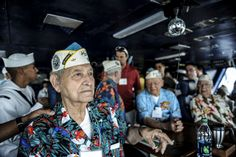 PEARL HARBOR (Dec. 5, 2013) World War II veterans who served during the attack on Pearl Harbor observe the flight deck from the primary flight control room on board the aircraft carrier USS Nimitz (CVN 68). Nimitz is visiting Pearl Harbor at it transits the U.S. 3rd Fleet area of responsibility (AOR) after spending eight months deployed to the U.S. 5th, 6th and 7th Fleet AORs. (U.S. Navy photo by Mass Communication Specialist 3rd Class Siobhana R. McEwen/ Released)