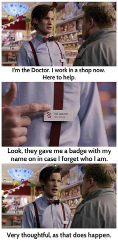 11th Doctor works in a shop