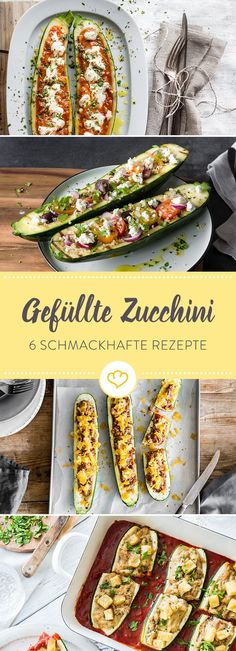 Receitas de abobrinha recheada: 6 deliciosos heróis do forno verde - Leckere Rezepte - Zucchini Rolls, Low Carb Recipes, Healthy Recipes, Good Food, Yummy Food, Vegetable Recipes, Food Inspiration, Mexican Food Recipes, Food Porn