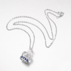 Crown Alloy Rhinestone Pendant Necklaces from Pandahall.com