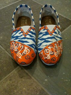 CUSTOM Hand-painted TOMS shoes. Design for Camp or Tribe