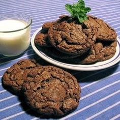 """Double Chocolate Mint Cookies I """"Oh yum! These taste like Girl Scout thin mints except chewy and soft!"""""""