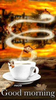 The perfect Coffee Tea Aroma Animated GIF for your conversation. Discover and Share the best GIFs on Tenor. Gif Café, Animated Gif, Good Morning Gif, Morning Images, Morning Pics, Autumn Coffee, Autumn Tea, Autumn Fall, Autumn Morning