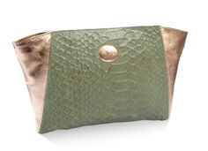 Clutch BamBam Metal green. NEU handbags & accessories  www.neubyneu.com