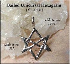 Unicursal hexagram pendant pendants and mythology mozeypictures Images