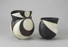 View A black and white pot by John Ward on artnet. Browse upcoming and past auction lots by John Ward. Ceramic Pottery, Pottery Art, John Ward, Organic Lines, Persian Carpet, Ceramic Artists, Urn, Black And White, White Pot