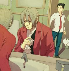 Edgeworth and Wright by hello-morphine on DeviantArt