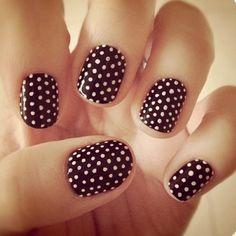 Brown w/ polka dots