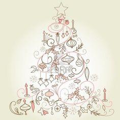 §§§ : Arbre de Noël -- beautiful drawing.