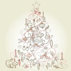 §§§ : Arbre de Noël -- beautiful drawing.
