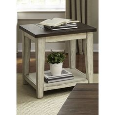 Unique styling with stick built design and hardware accents. Casual rustic with a contemporary feel. Open shelf design.