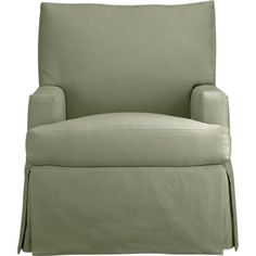 This one ships in 3-6 weeks:  but they only have solid colors and no orange Hathaway Chair in Chairs | Crate and Barrel