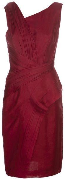 Layered Sleeveless Dress - J Mendel. LOVE COLOR