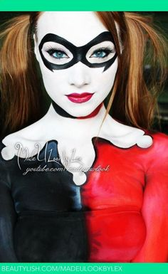 harley quinn makeup ideas | Harley Quinn | Alexys F.'s (madeulookbylex) Photo | Beautylish