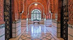 This palatial villa in Marrakesh, Morocco, is an homage to one of Spain's historic architectural treasures, the Alhambra, the royal residence and court of Granada in the century. Indian Architecture, Royal Residence, Moroccan Design, International Real Estate, Marrakesh, Luxury Villa, My Dream Home, Dream Homes, Morocco