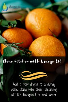 Clear kitchen with Orange Oil. elementaoils.com