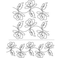 ... can be used similarly to continuous line free motion quilting designs