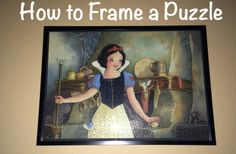 How to Frame a Puzzle. Check out the blog to learn how easy it is to frame a puzzle for you to keep forever.