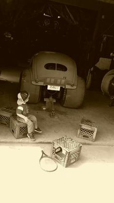 kid and his vw