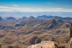View from top of Chisos Mountain in Big Bend