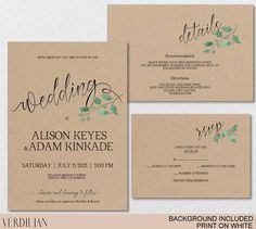 FREE Printable Wedding Invitation Template | Free printable wedding ...