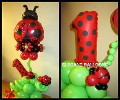 Ladybug Themed Centerpiece for a First Birthday