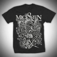 Of Mice Of Men - Mens Om Eagle T-shirt in Black