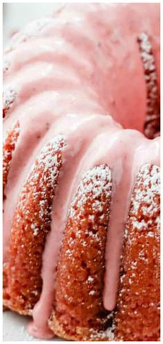 Fresh Strawberry Pound Cake Recipe ~ A delicious pound cake, perfectly dense, but so moist, with wonderful pops of fresh strawberries and a delicious strawberry glaze. Recipes and yummy cake tips Best Cake Recipes, Pound Cake Recipes, Sweet Recipes, Moist Pound Cakes, Easy Recipes, Best Pound Cake Recipe, Slow Cooker Desserts, Köstliche Desserts, Delicious Desserts