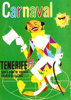 Cartel Carnaval Santa Cruz de Tenerife Año 1977