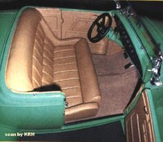 Hot Rod Interiors Upholstery | Ford Hot Rod Green Interior KRM (1932) - Picture Gallery - Motorbase