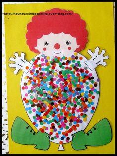 .. Ballon clown confettis ..