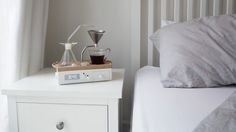 The Barisieur is an alarm clock that will wake you up with the smell of fresh coffee! Designed by British designer, Josh Renouf, this alarm clock can make you a cup of coffee or tea as you snooze in your bed. Simply load it with grinds, water, and a Coffee Brewer, Coffee Cups, Coffee Maker, Coffee Coffee, Coffee Beans, Coffee Clock, Espresso Coffee, Best Alarm, Design Café