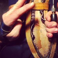 Cuervo. Bespoke Shoes. Cobberblack Bird. Shoepolish. http://cobblerblack.com/cuervo_cobblerblack_bird.html