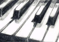 pencil drawings of piano