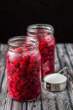 Homemade Raspberry Liqueur Elixir