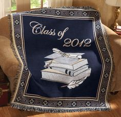 Class Of 2012 Graduation Tapestry Throw Blanket $14.99