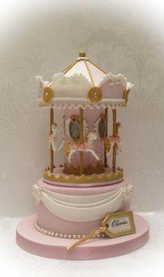 Little Miss 9's Carousal Cake