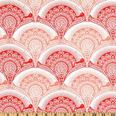 Tula Pink Prince Charming Voile Snail Scallop Coral