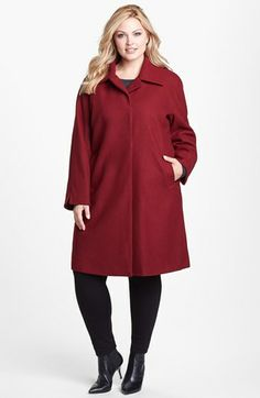 Ellen Tracy 'Clutch' Coat (Plus Size) available at #Nordstrom