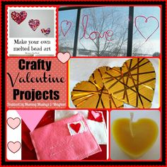 A crafty DIY collection of fun Valentine projects featured on the Weekly Kid's Co-Op...have you linked up this week?