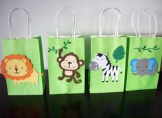 Jungle themed Favor Bags by YourPartyShoppe on Etsy