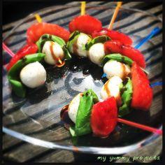 Erdbeer-Mozzarella-Spieße, strawberry-mozzarella-skewers